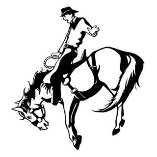 Bronco Rodeo Cowboy Wall Vinyl Art
