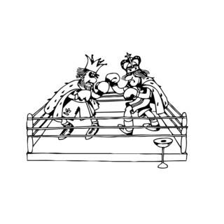 Funny Boxing Kings Wall Vinyl Art