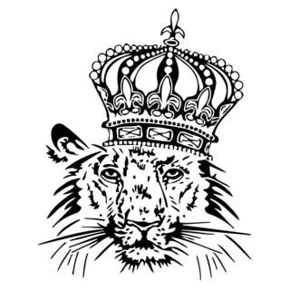 Lion In Crown Wall Vinyl Art