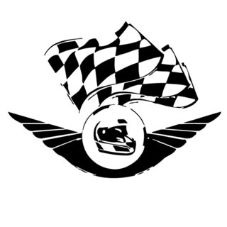 Racing Checkered Flags Wall Vinyl Art