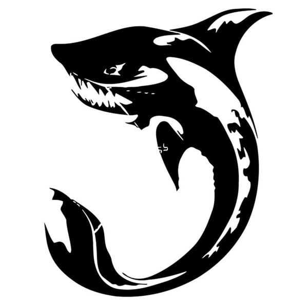 Stylized Shark Wall Vinyl Art