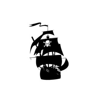Pirate Ship Wall Vinyl Art