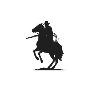 Cowboy with a Rifle on a Horse Wall Vinyl Art