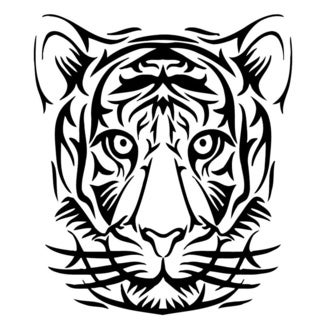 Tiger Head Wall Vinyl Art