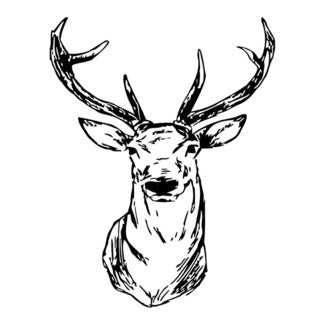 Elk Head Wall Vinyl Art