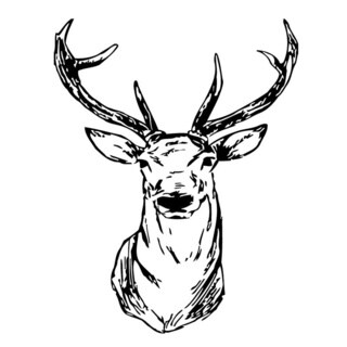 Elk Head Wall Vinyl Art