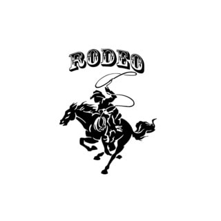 Rodeo Cowboy Logo Wall Vinyl Art