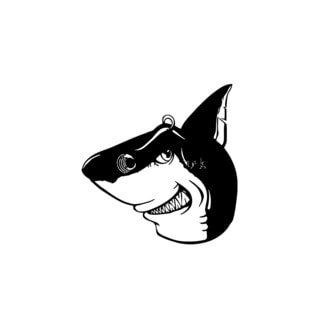 Funny Shark Head Wall Vinyl Art