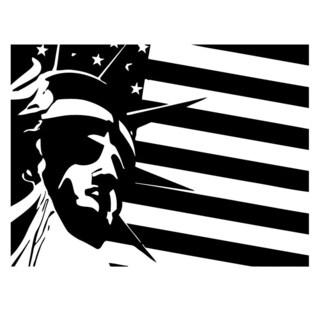 American Liberty Flag Wall Vinyl Art