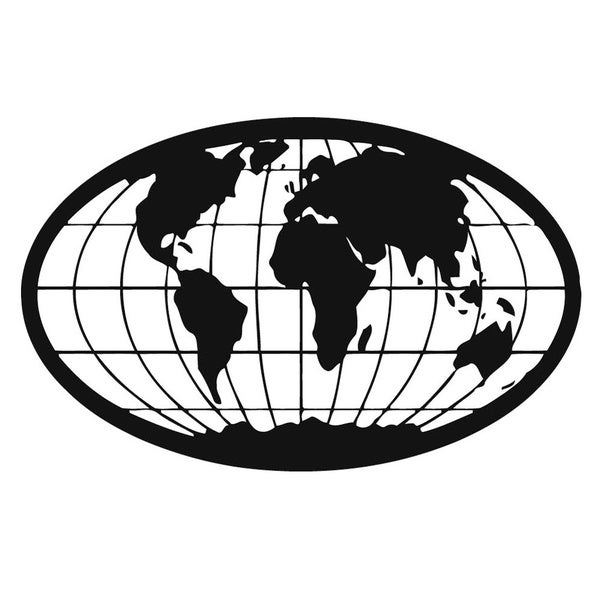 World Map Wall Vinyl Art