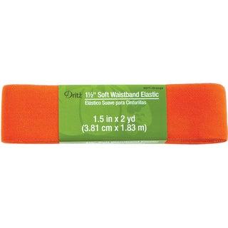 Dritz Soft Waistband Elastic 1-1/2 inches x 2 Yards - Orange