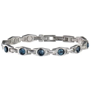 Sabona Executive Lady Blue Gem Magnetic Bracelet