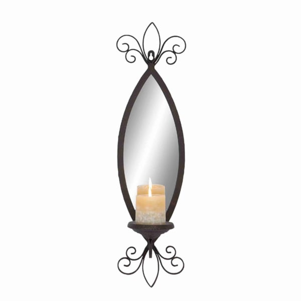 shop mirror candle sconce free shipping today overstock 9204380. Black Bedroom Furniture Sets. Home Design Ideas