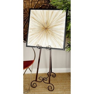Traditional 51-inch Gray Adjustable Iron Scroll Easel by Studio 350