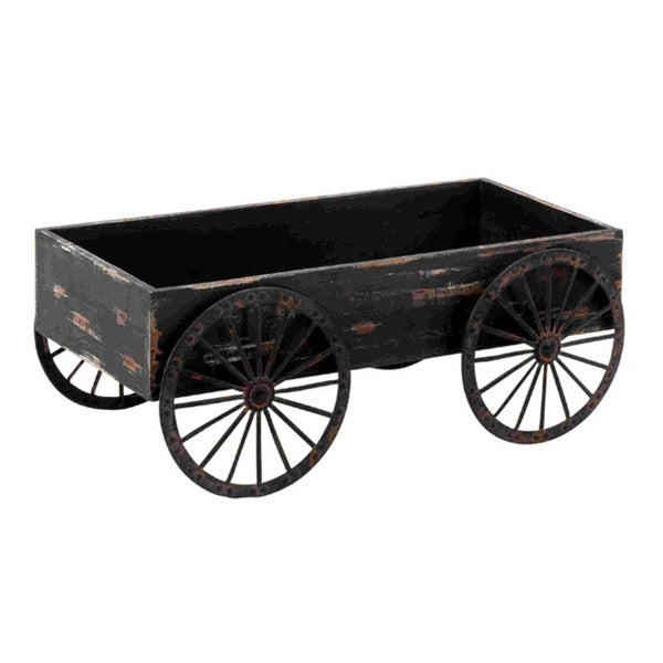 Shop Wooden Decor Cart Free Shipping Today Overstock