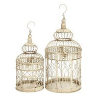 Maison Rouge Lamartine Metal Tall and Small Bird Cages