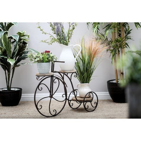 Farmhouse 23 Inch Antique Bronze Bicycle Plant Stand by Studio .350