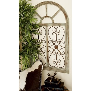 Wood And Iron Wall Decor enchanting antique wood metal wall decor - free shipping today