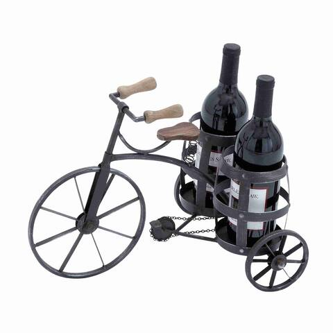 Black Metal Wine Holder
