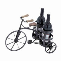 Black Metal Wine Holder