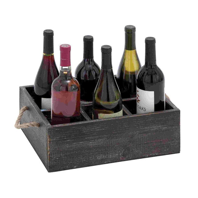 Benzara Wine Tray with 6 Compartments (Wine Tray Crafted ...