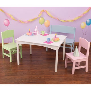 KidKraft Nantucket 4-piece Table, Bench and Chairs Set