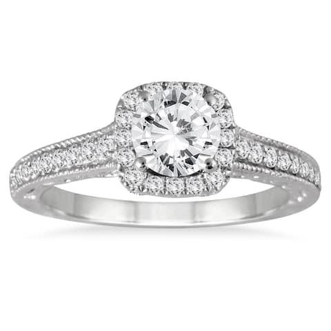 14k White Gold 1 3/8ct TDW Diamond Engagement Ring