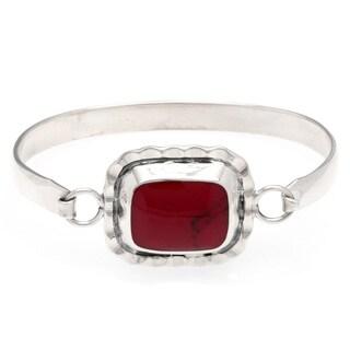 Kele & Co. Sterling Silver Red Spider Cuff Bracelet