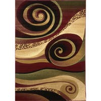 Home Dynamix Evolution Collection Contemporary Beige Area Rug - 5'3''x7'7''
