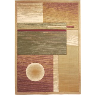 Home Dynamix Evolution Collection Contemporary Beige Area Rug (7'10X10'2)