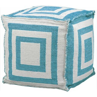 Mina Victory Indoor/Outdoor Turquoise Cube (16-inch x 16-inch) by Nourison