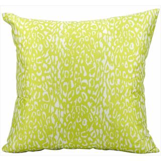 Mina Victory Indoor/Outdoor Leopard Green Throw Pillow (20-inch x 20-inch) by Nourison