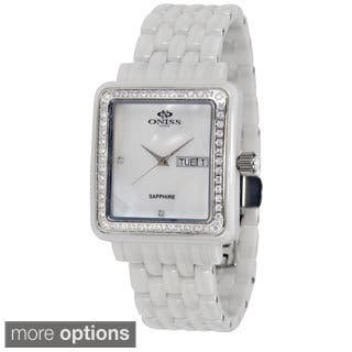 Oniss Women's Finesse Ceramic Collection Watch|https://ak1.ostkcdn.com/images/products/9204567/P16375743.jpg?impolicy=medium