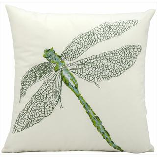 Mina Victory Indoor/Outdoor Dragonfly Green Throw Pillow (16-inch x 16-inch) by Nourison