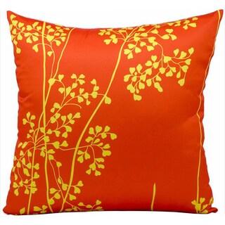 Mina Victory Indoor/Outdoor Weeds Orange Throw Pillow (20-inch x 20-inch) by Nourison