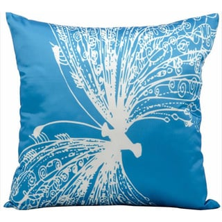Mina Victory Indoor/Outdoor Freedom Turquoise Throw Pillowby Nourison (18-Inch X 18-Inch)