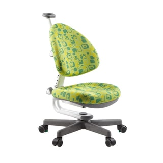 Kid 2 Youth Children's Ergonomic Green Swivel Desk Chair with Rotation Brake