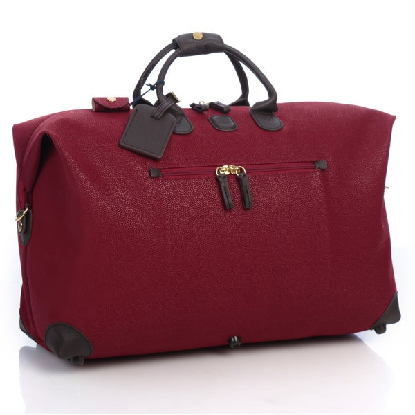 2188bac58b Shop Bric s Life Red Brown 22-inch Carry On Travel Duffel Bag - Free ...