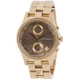 Marc Jacobs Women's MBM3298 Henry Glitz Chronograph Gold Watch