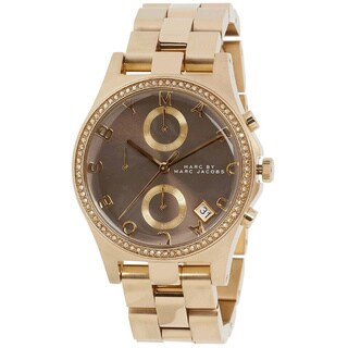Marc Jacobs Women's MBM3298 Henry Glitz Chronograph Gold Watch