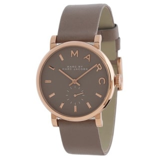 Marc Jacobs Women's MBM1266 Baker Rosetone Grey Leather Watch