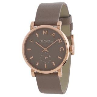 Marc Jacobs Women's MBM1266 Baker Rosetone Grey Leather Watch