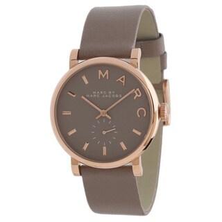 Marc Jacobs Women's Baker Rosetone Grey Leather Watch