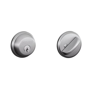 Schlage Single Cylinder Satin Chrome Deadbolt