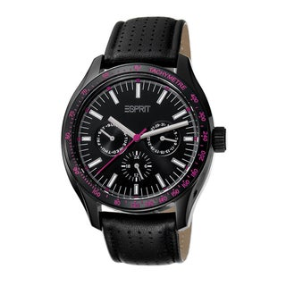 Esprit Women's ES103012006 Orbus Pink/ Black Leather Watch