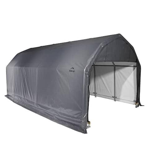 ShelterLogic Grey Barn Shelter Style Garage