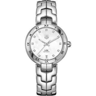 Link to Tag Heuer Women's WAT2315.BA0956 'Link' Mother of Pearl Dial Stainless Steel Automatic Watch Similar Items in Women's Watches