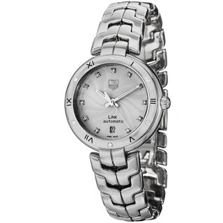 Link to Tag Heuer Women's WAT2312.BA0956 Link Lady Automatic Diamond Silver Dial Stainless Steel Watch Similar Items in Women's Watches