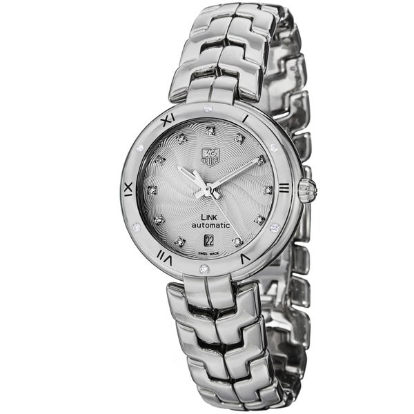 Tag Heuer Women's WAT2312.BA0956 Link Lady Automatic Diamond Silver Dial Stainless Steel Watch. Opens flyout.