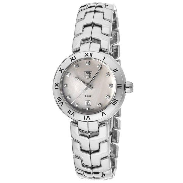 Tag Heuer Women's WAT1417.BA0954 Link Stainless Steel Diamond Watch. Opens flyout.
